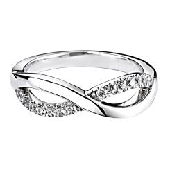 HRRWB021 Round cut Diamond Shaped Wedding Ring - white