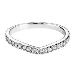HRRWB022 Round cut Diamond Shaped Wedding Ring - white