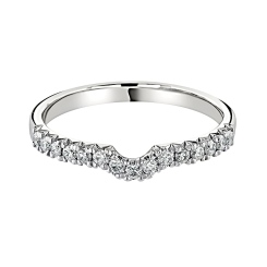 HRRWB040 Round cut Diamond Shaped Wedding Ring - white