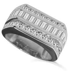 HRX1774 2.00CT VS/EF MENS DIAMOND RING - white_2