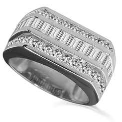 HRX1774 2.00CT VS/EF MENS DIAMOND RING - white