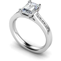 HRXSD585 Emerald Shoulder Diamond Ring - white