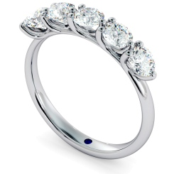 MUSCA Round cut 5 Stone Diamond Eternity Ring - white