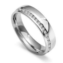 0.45ct VS/FG Round Diamond Wedding Ring - 0.45ct VS/FG Round Diamond Wedding Ring
