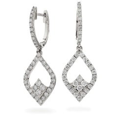 HER232 Delicate Designer Drop Earrings - white