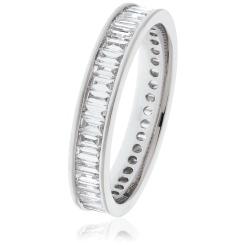 HRBFE1012 Baguette Shape Diamond Full Eternity Ring - white