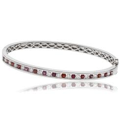 HBRDBGRY071 Ruby & Diamond Diamond Bangle - white