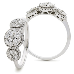 HRRCL942 Designer Round cut Cluster Diamond Ring - white