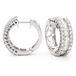 HER157 Brilliant cut Designer Diamond Drop Earrings - white