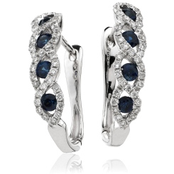 HERGBS285 Blue Sapphire Multistone Earrings - white