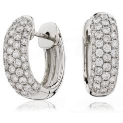 HER187 Brilliant cut Designer Diamond Hoop Earrings - white