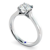 HRR329 4 Prong Round cut Solitaire Diamond Ring