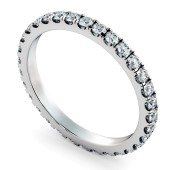 PEGASUS Round cut Full Diamond Eternity Ring