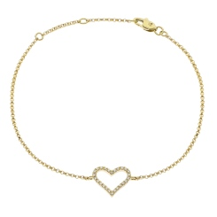 HBRDR031 Designer Round cut Delicate Diamond Bracelet - yellow