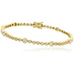 HBRDR043 Bezel Diamond Line Bracelet - yellow