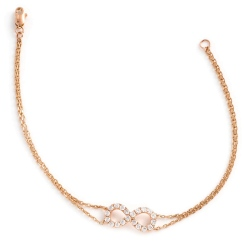 HBRDR035 Infinity Delicate Diamond Bracelet - rose