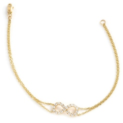 HBRDR035 Infinity Delicate Diamond Bracelet - yellow
