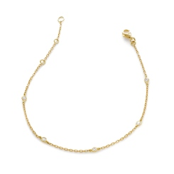 HBRDR036 Multi Charm Delicate Diamond Bracelet - yellow
