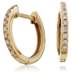 HER150 Round cut Drop & Hoop Diamond Earrings - rose