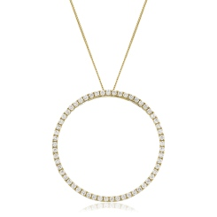 HPRDR120 Round cut Circle of Life Diamond Pendant - yellow