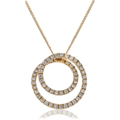 HPRDR121 Round cut Swirl Diamond Pendant - rose