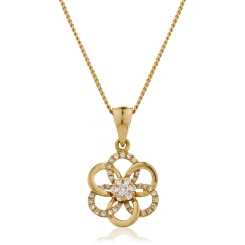 HPRDR122 Round Designer Diamond Pendant - rose