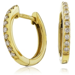 HER150 Round cut Drop & Hoop Diamond Earrings - yellow