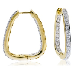 HER158 Round Diamond Designer Drop Earrings - yellow