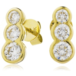 HER216 Trilogy Journey Diamond Earrings - yellow