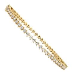 ANGELIQUE Round cut 3 Point Tennis Diamond Bracelet - yellow