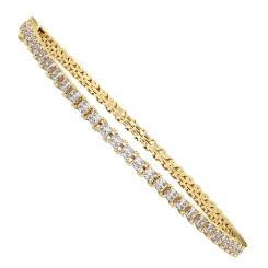 Princess cut SANIA Diamond Tennis Bracelet - yellow