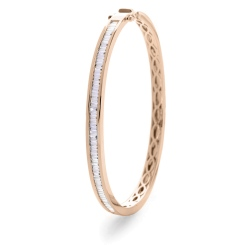 HBPDB060 Princess cut Channel Set Designer Diamond Bangle - rose
