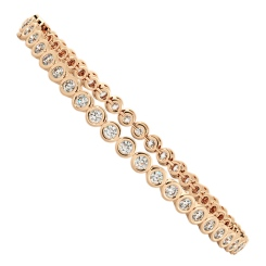 WILLIAMS Round cut Bezel set Diamond Tennis Bracelet - rose