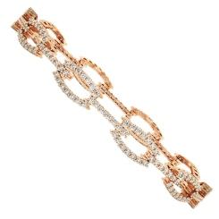 JOHANNA O'Linked Designer Diamond Bracelet - rose