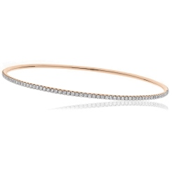 HBRDB057 Round cut Claw Set Diamond Bangle - rose