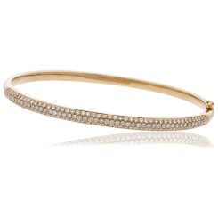 HBRDB061 Pave Set Diamond Bangle - rose