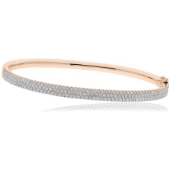 HBRDB063 Micro Pave Diamond Bangle - rose