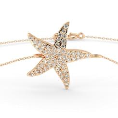 HBRDR030 Star Shape Delicate Diamond Bracelet - rose
