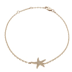 HBRDR030 Star Shape Delicate Diamond Bracelet - rose