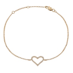 HBRDR031 Designer Round cut Delicate Diamond Bracelet - rose