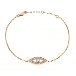 HBRDR033 Round cut Delicate Diamond Bracelet - rose