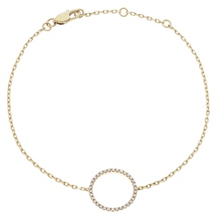 HBRDR034 Circle of Life Delicate Diamond Bracelet - yellow
