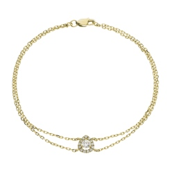 HBRDR037 Pear Shape Delicate Diamond Bracelet - yellow
