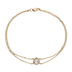HBRDR037 Pear Shape Delicate Diamond Bracelet - rose
