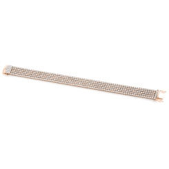 HBRFR081 Five Row Round cut Diamond Bracelet - rose