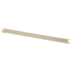 HBRFR081 Five Row Round cut Diamond Bracelet - yellow