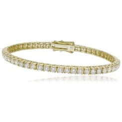 HBRSR073 Single Row Twisted Claw Diamond Tennis Bracelet - yellow