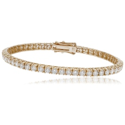 HBRSR073 Single Row Twisted Claw Diamond Tennis Bracelet - rose