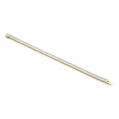 HBX023 Round & Baguette Diamond Line Bracelet - yellow