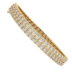 MARTINA Round Doubles Diamond Tennis Bracelet - yellow